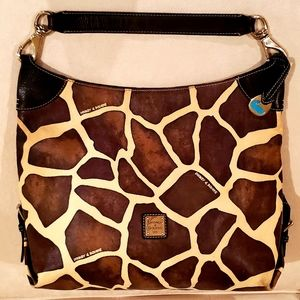 Dooney & Bourke Brown/Tan Leather Giraffe Tote